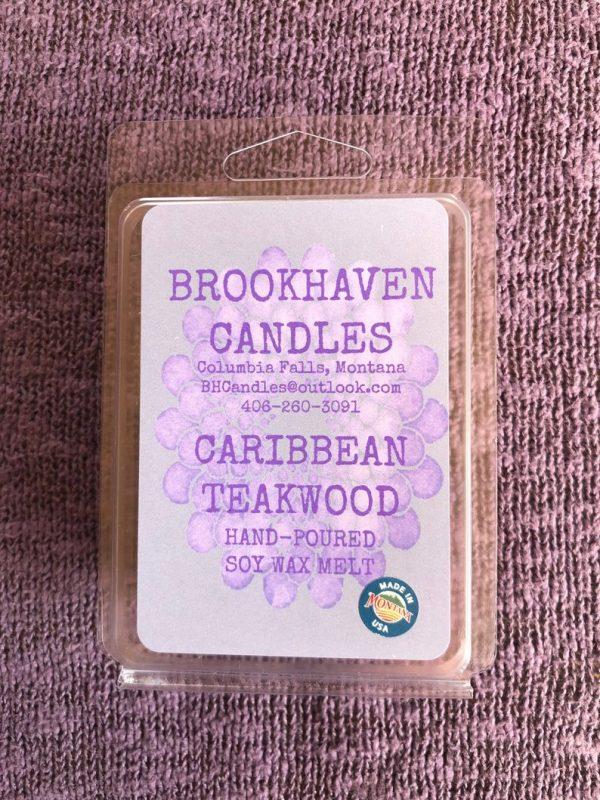 Caribbean Teakwood Scented Soy Wax Melt