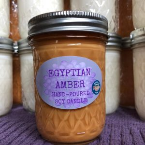 Egyptian Amber Scented Soy Candle