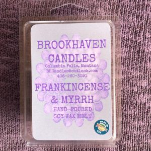 Frankincense and Myrrh Scented Soy Wax Melt