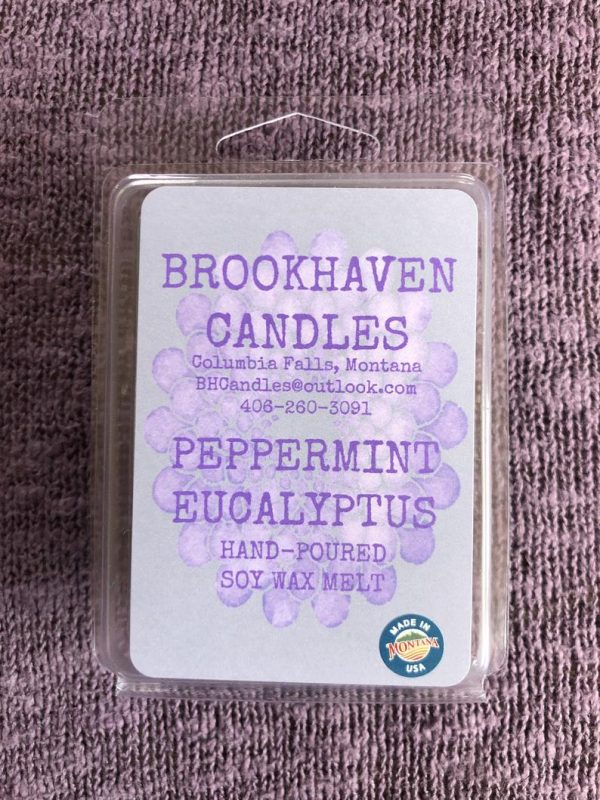 Peppermint Eucalyptus Scented Soy Wax Melt