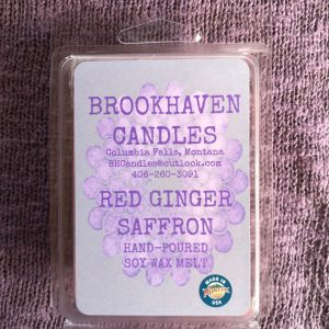 Red Ginger Saffron Scented Soy Wax Melt