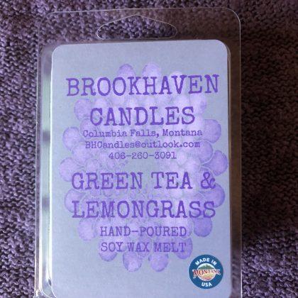 Green Tea & Lemongrass Scented Soy Wax Melt